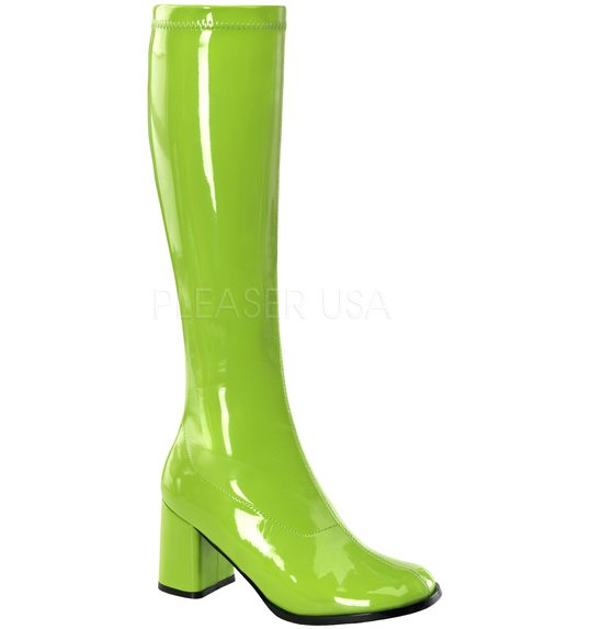 Bottes disco Fluo vert
