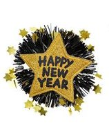 Broche Happy New Year goud WI-7891G
