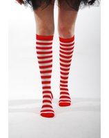 Gestreepte kousen / sokken rood of blauw PWA3022