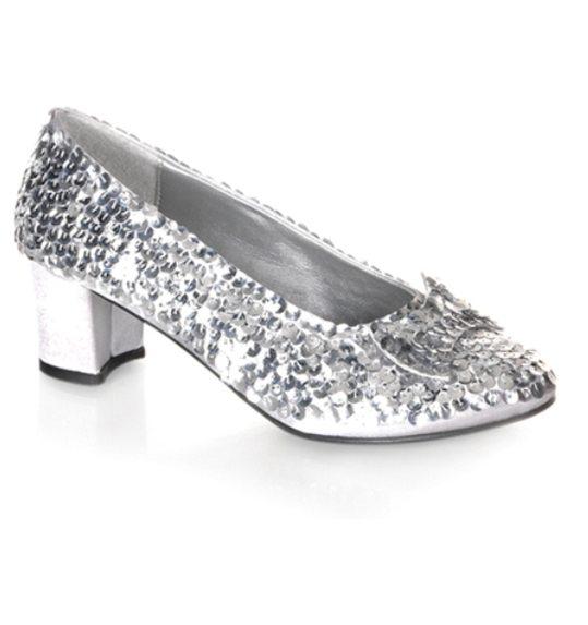 Glitter schoenen zilver