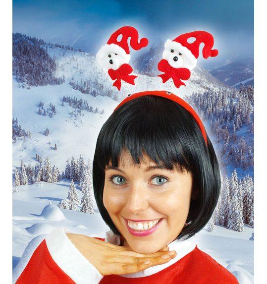 Kerstdiadeem ijsbeer of kerstman
