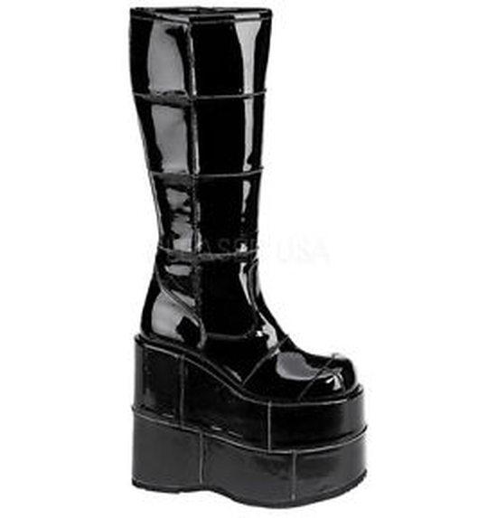 Mega plateau laarzen zwart