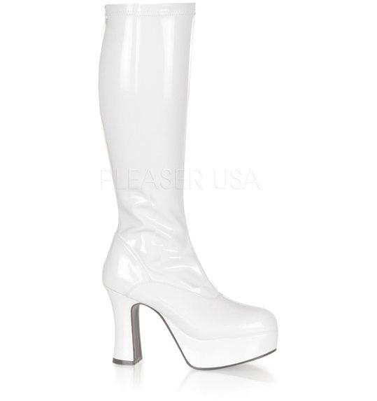 Plateau laarzen wit sexy