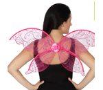 Roze fee vleugels met bloem