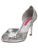 Zilveren glitter pumps PL-STO06G/S