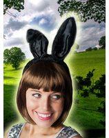 Zwarte Bunny Konijnen oortjes PWA2378