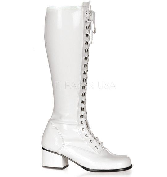 witte laarzen met veters