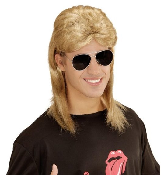 80 \'s wig with mullet