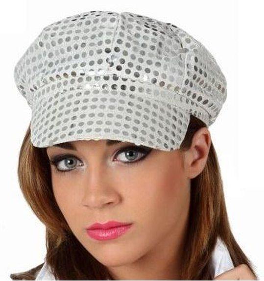 Hat glitter silver