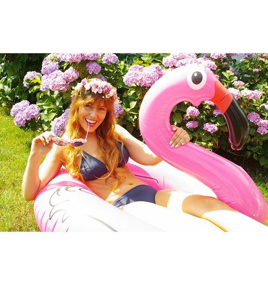 Inflatable flamingo swimming pool