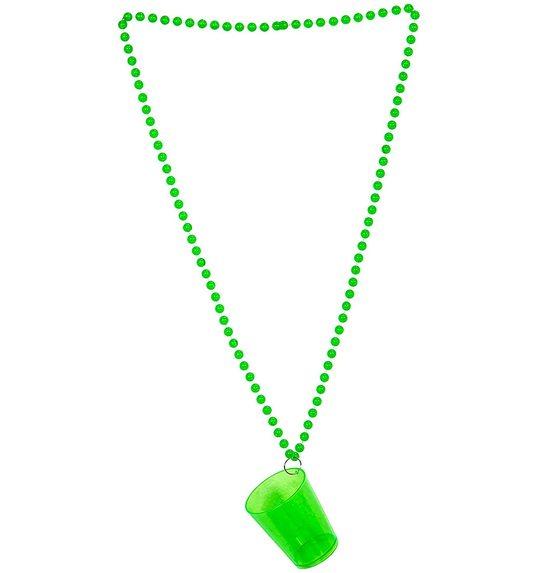Shotglaasje groen aan ketting