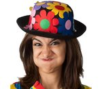 clown hat with flowers