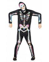 Halloween day of the dead skeleton suit for men AT-34720/34721/34723