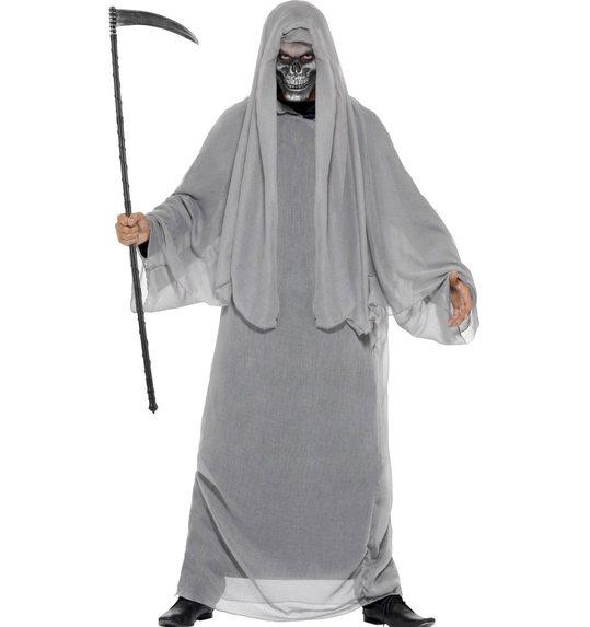Halloween grim reaper costume grey
