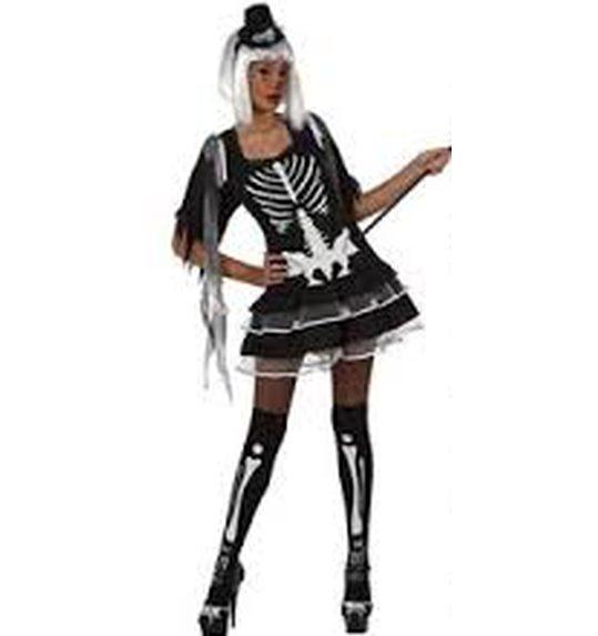 Sexy costume skeleton