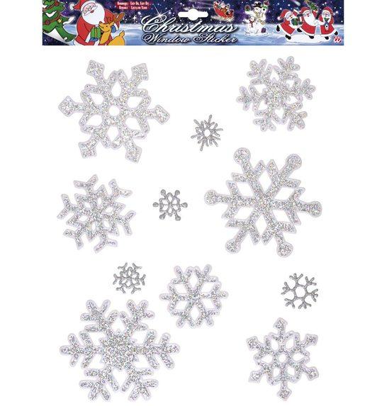 Glitter Sneeuwvlokken Raamstickers