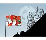 House flag/banner Sint cartoon 90x60cm