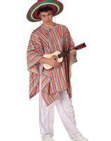 Mexicaanse man broek en poncho maat M-L AT-19539