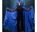 Long Cape Blue satin